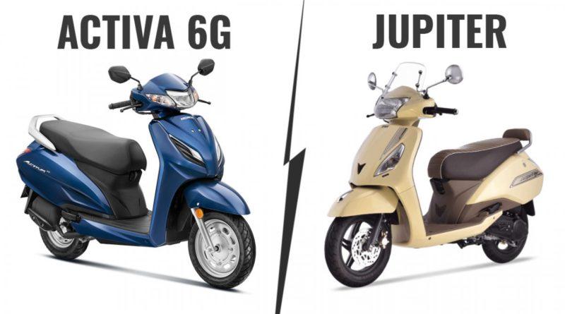 Honda Activa 6G vs TVS Jupiter BS6 Classic