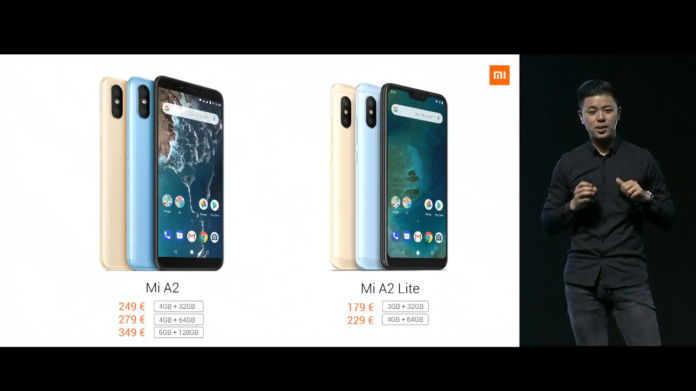 Xiaomi Mi A2 and lite launched with great specs and features at value for money price mi a2 lite specification india launch date release of Mi A2 in India