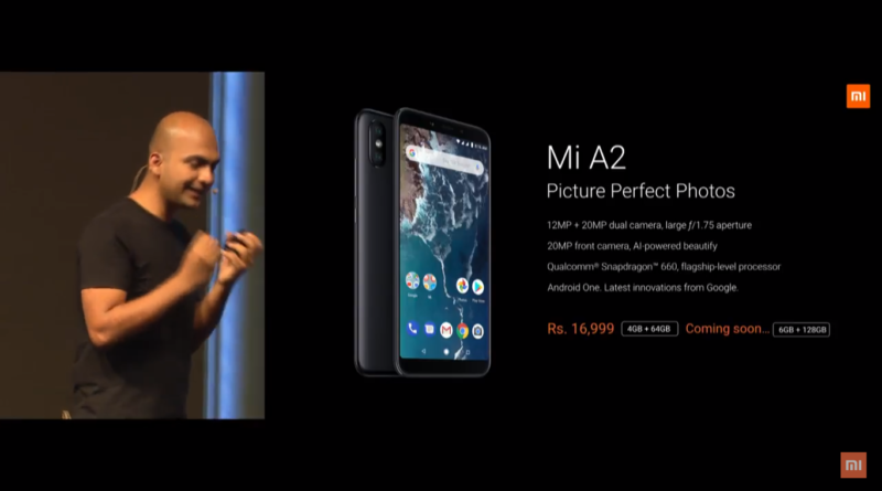Xiaomi Mi A2 Launched in India price , specification and features