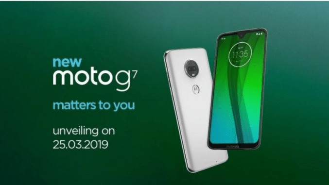 motorola has teased the launch date of moto g7 in india specfications specs features