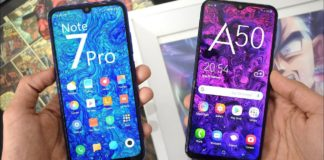 Samsung Galaxy A50 vs Redmi Note 7 Pro Comparison Review , Which is better