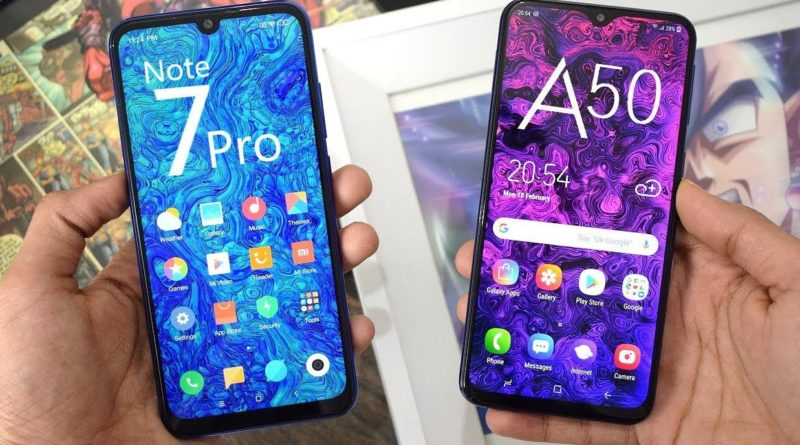 Samsung Galaxy A50 vs Redmi Note 7 Pro Comparison Review , Which is better