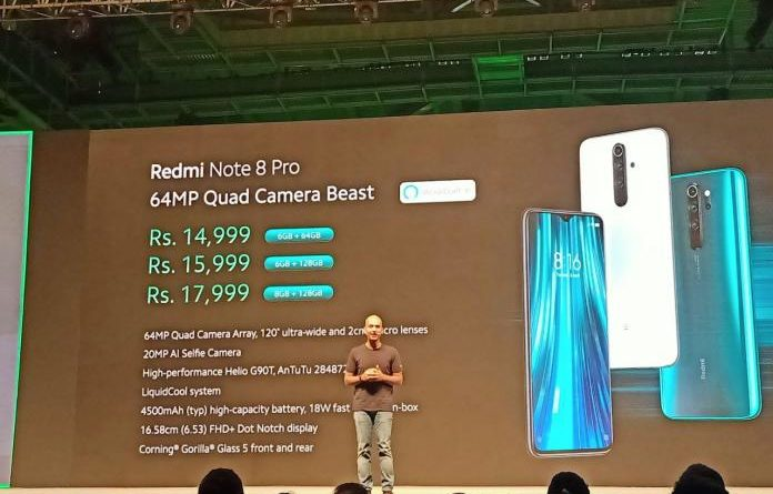 xiaomi redmi note 8 pro india launch date and price in india