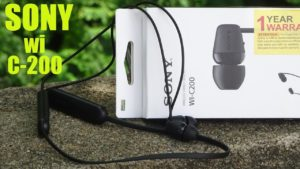 Sony WI-C200 Wireless Neck-Band Earphones best wireless blutooth earphone under 2000 from sony