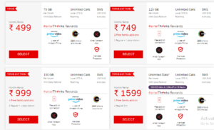 airtel postpaid plans basic and unlimited plans price in india 2020