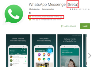 how to download and install whatsapp beta version from google play store
