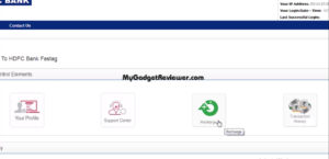 login to hdfc fastag account