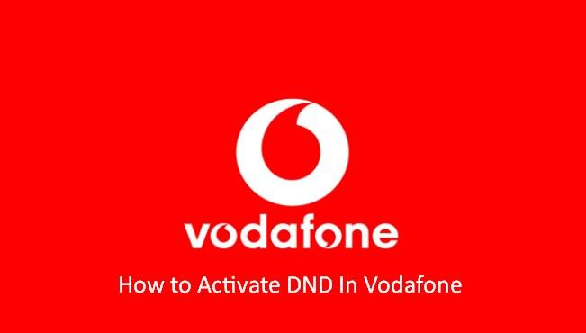start do not disturb services in vodafone number