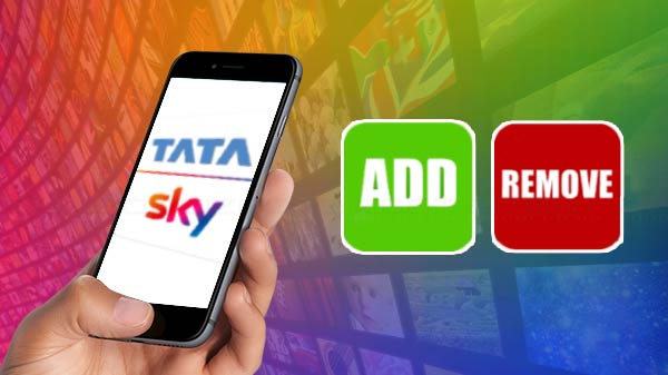 tata sky channelselection guide to add and remove packages