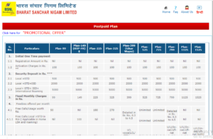 bsnl postpaid plans 99 basic and unlimited 4g plans