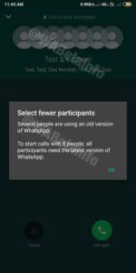 how to make whatsapp group call