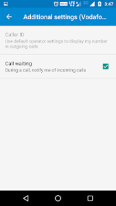 how to activate call waiting in android phones