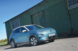 hyundai kona electric exterior images and ride quality review