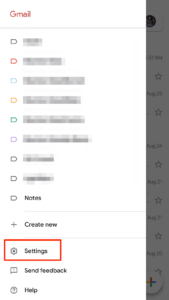 change mail password in app