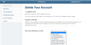 how to delete instagram account permanently on phone and pc