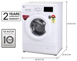 best fully automatic front load lg washing machines in india