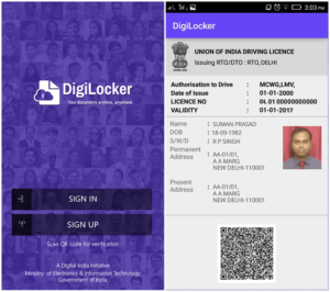download driving licence soft copy in digilocker app