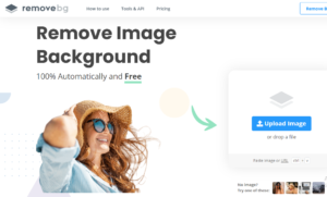 remove image background online using laptop pc
