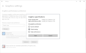how to set high graphics settings in windows
