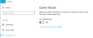 how to enable game mode in windows